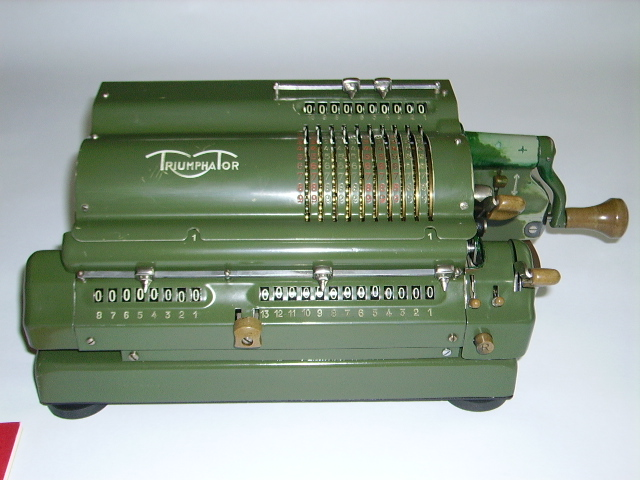 Modernistyczne Zabytkowa maszyna do liczenia Triumphator + gratis - 7175230167 QQ68