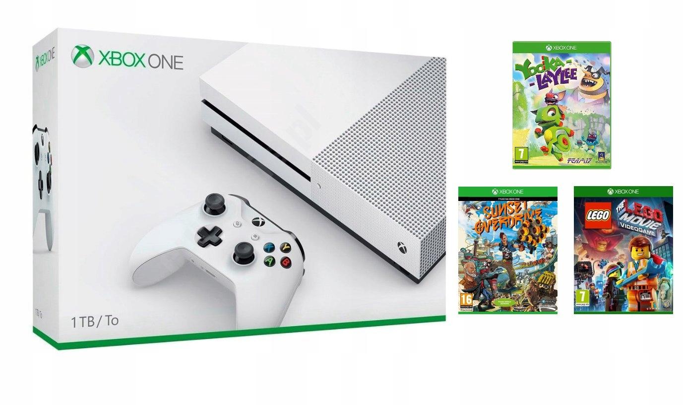 Nowa Konsola Xbox One S 1tb 3 Gry Lego Movie 7348964891