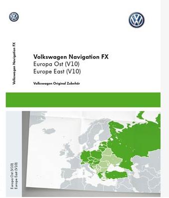 Najnowsza karta mapa VW Volkswagen RNS310 V10 2018