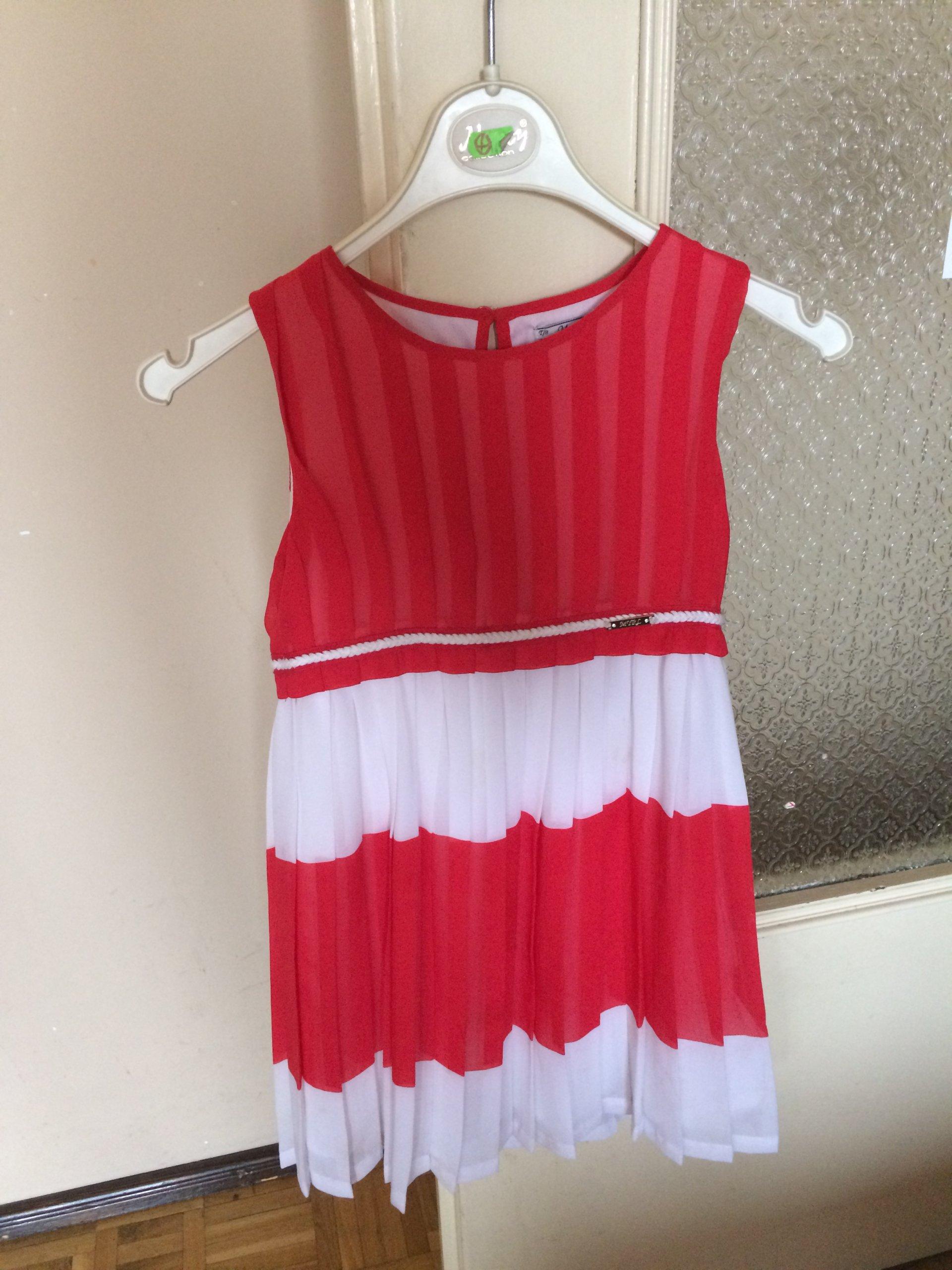 b131b80444 Plisowana sukienka Mayoral 128 - 7294870744 - oficjalne archiwum allegro