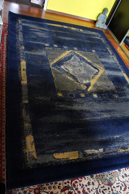 Dywan Wełniany Wełna Niebieski Belgia 200x290cm 7435887820