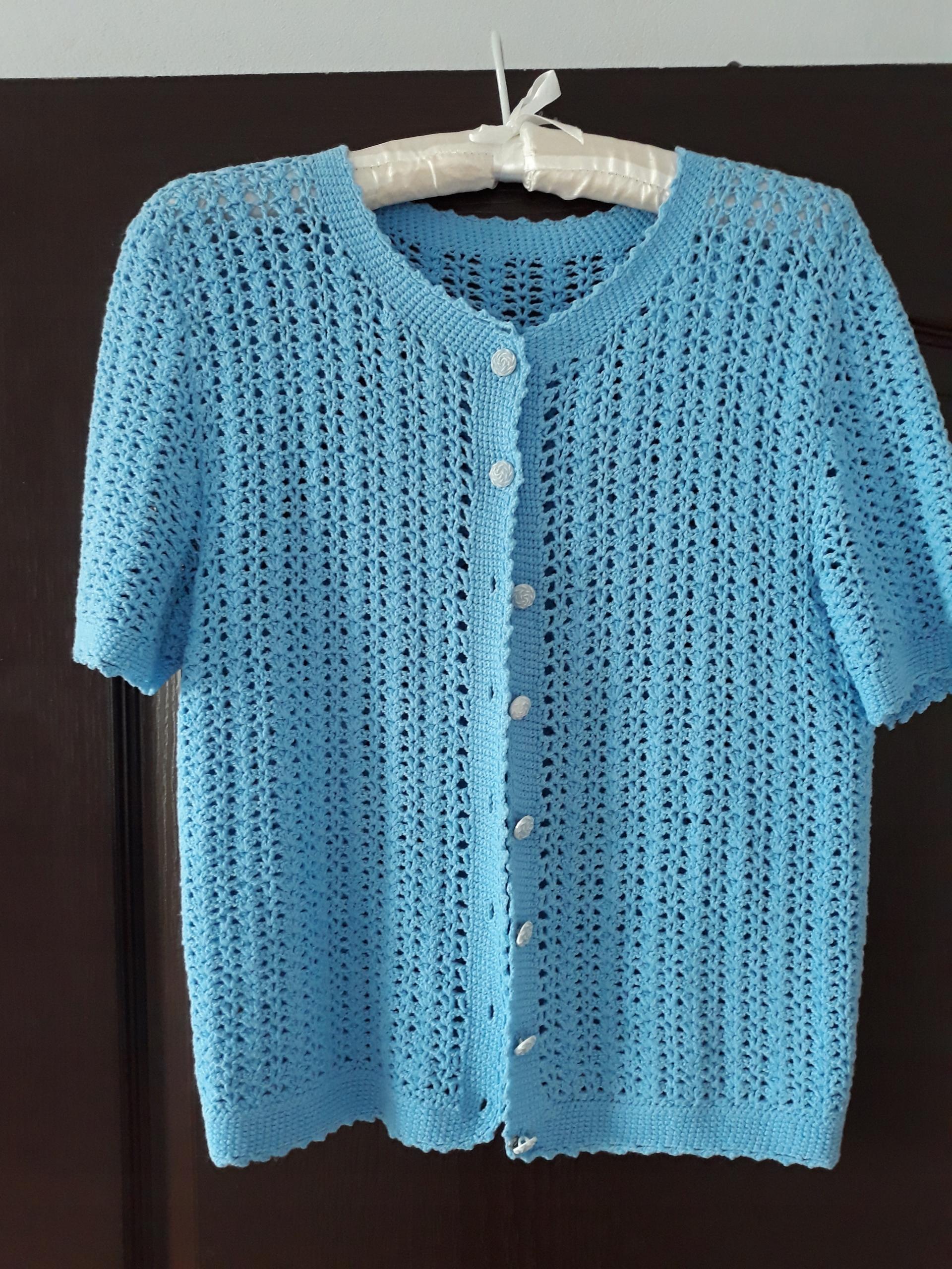 216ce09772 Sweterek 38 niebieski - 7688581971 - oficjalne archiwum allegro