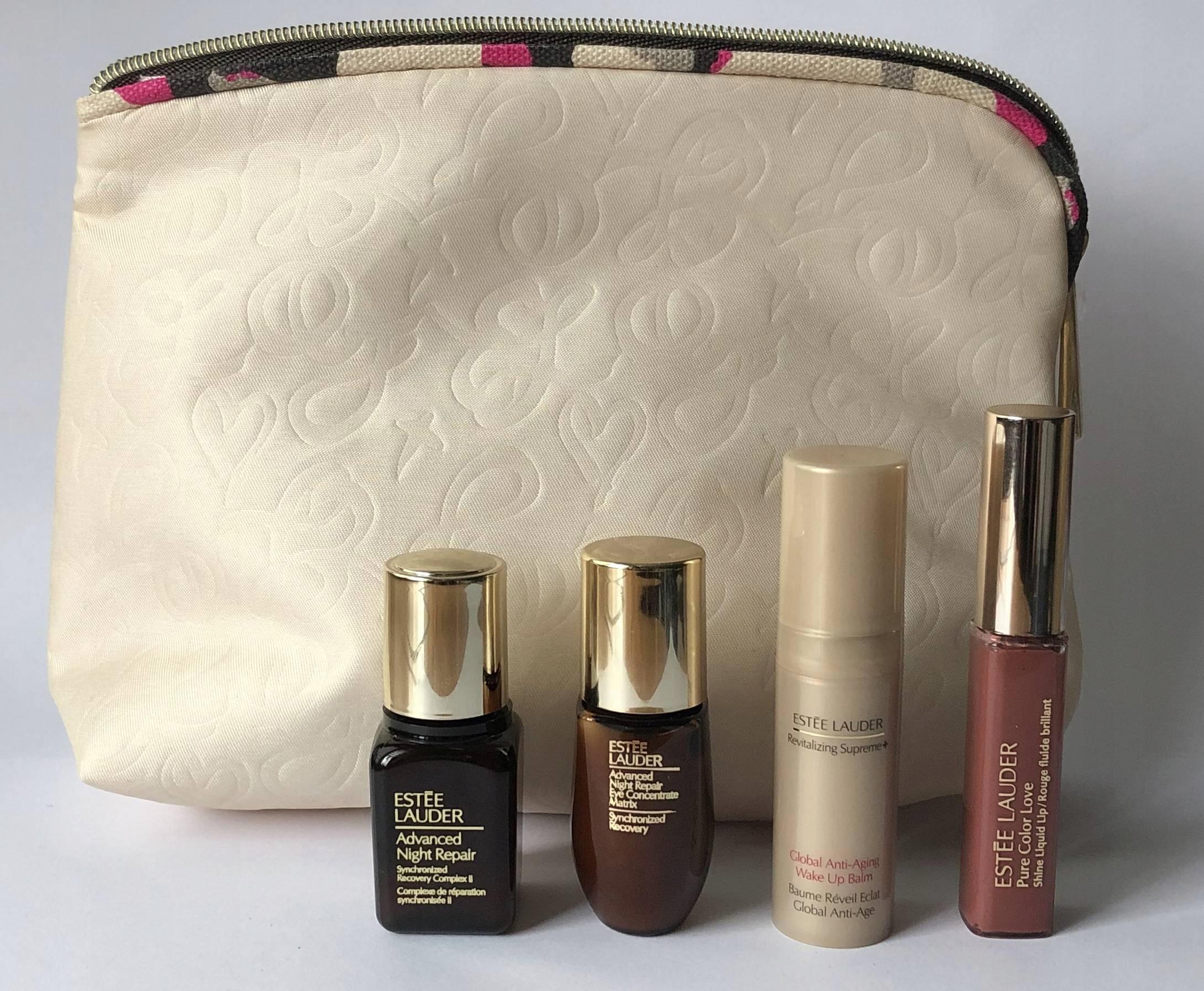 Inteligentny Estee Lauder zestaw z 4 miniaturami kosmetyczka - 7711377860 MK83