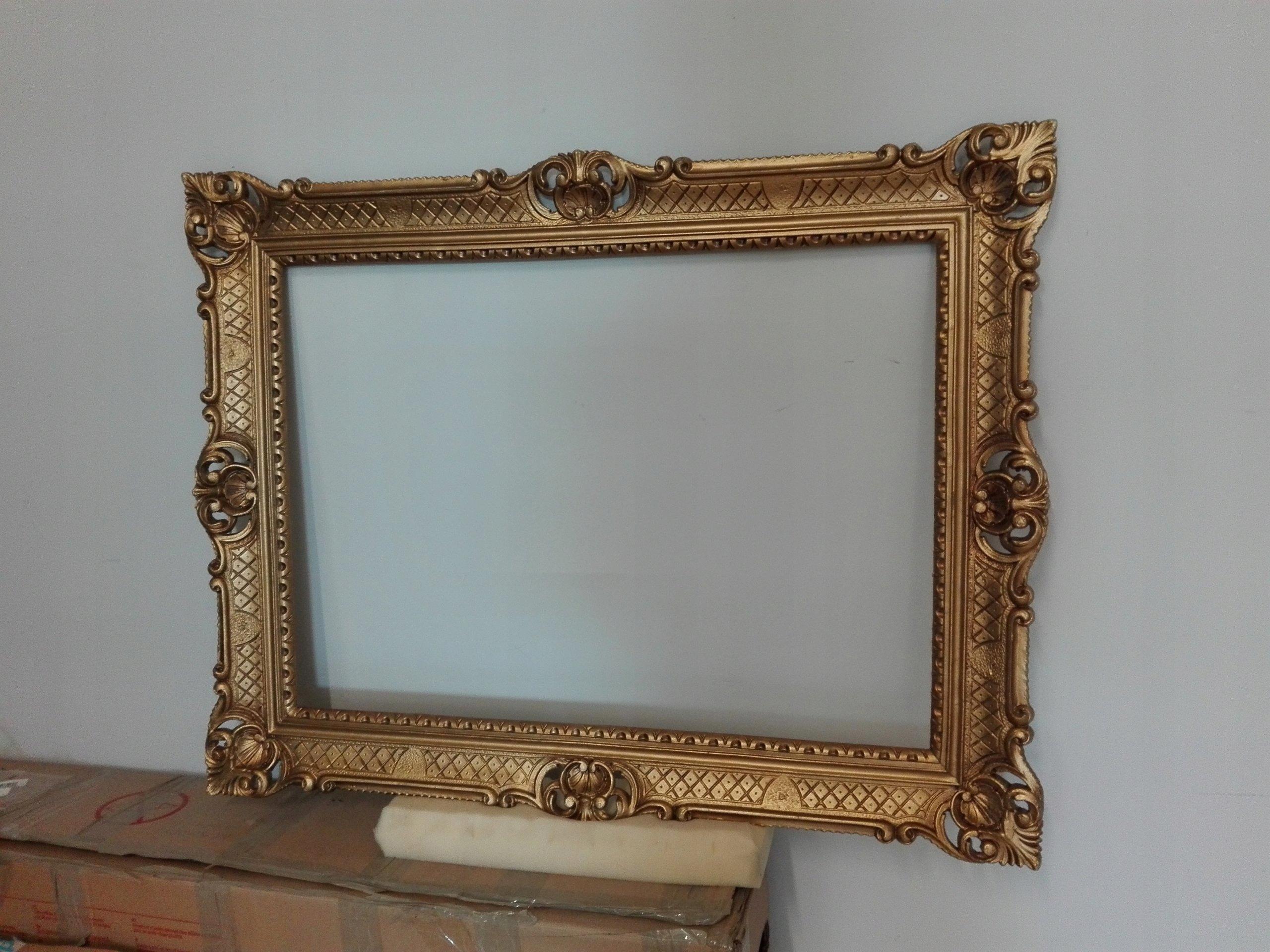 Rewelacyjny Złota rama na obraz na lustro piękna 52x72 cm - 7373343320 HC47