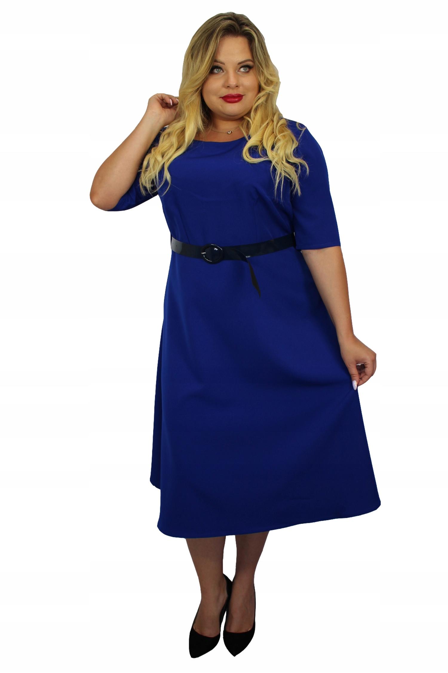 d203d02e Sukienka ADEL rozkloszowana pasek chaber 42 - 7547378135 - oficjalne ...