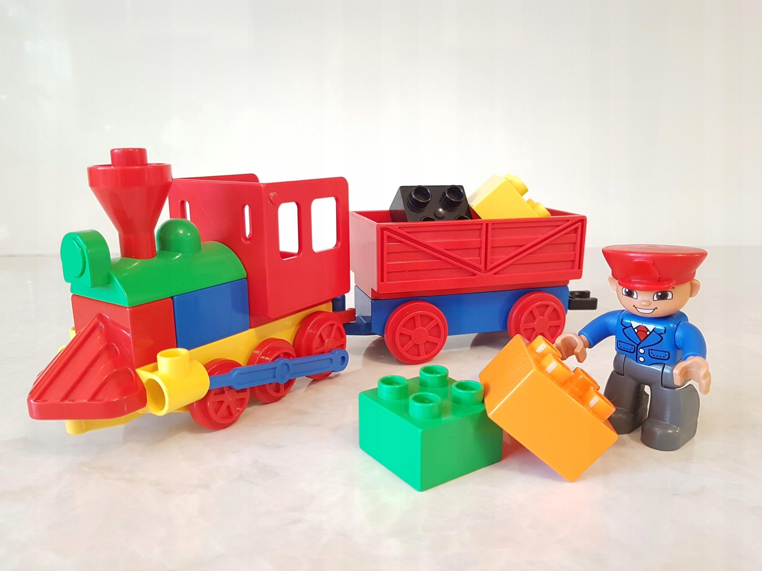 Lego Duplo Pociąg Ciuchcia Wagon Towarowy Ludzik 7546780526