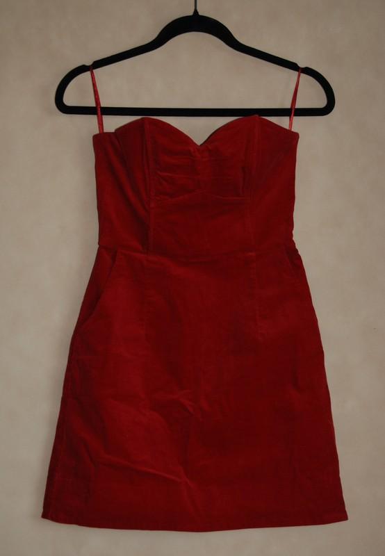 d11f19ebe6a264 Czerwona sukienka H&M 38 - 7226786655 - oficjalne archiwum allegro