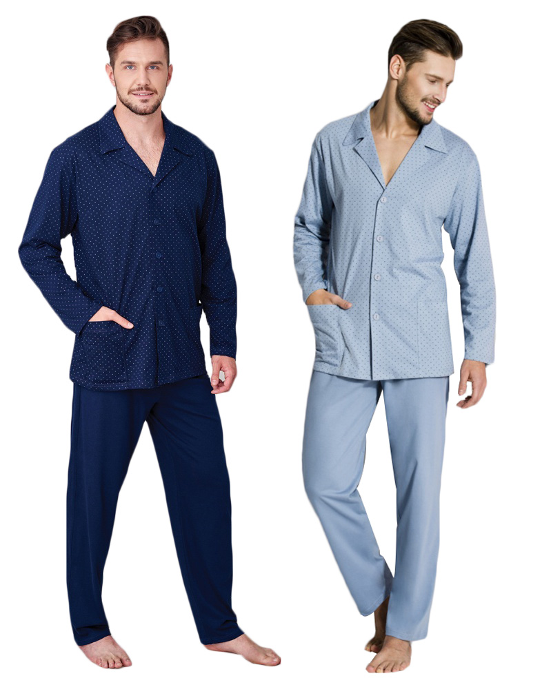 df6d91142a51 Regina piżama męska rozpinana 265 bawełna   XXL - 6989880519 ...