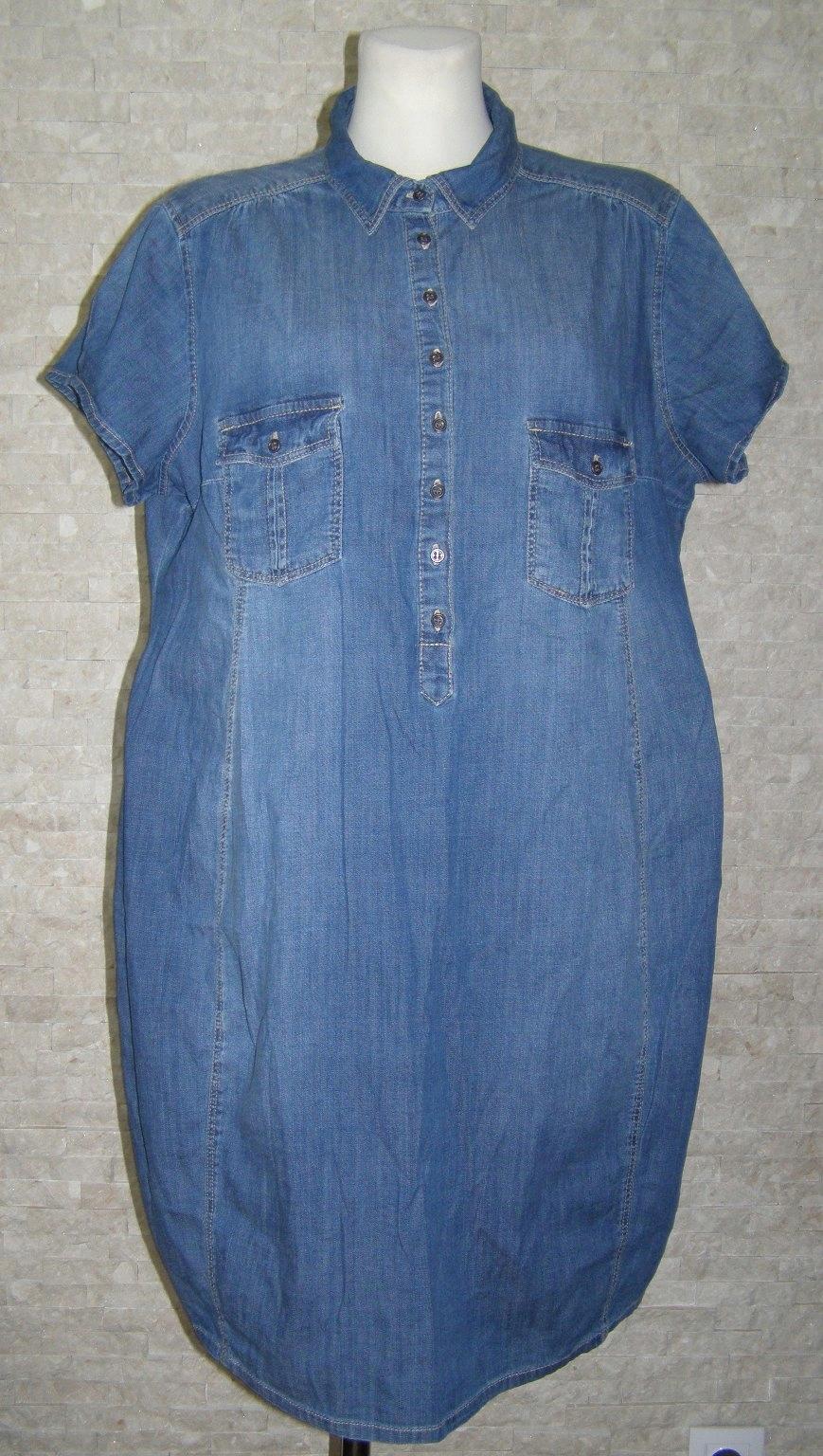 2a05aa9f0d H M nowa jeansowa ciążowa sukienka rozm.XL - 7495379925 - oficjalne ...