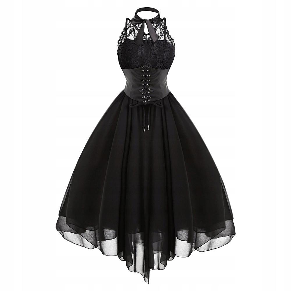 639defac Sukienka GLAM ROCK koronka tiul gorset GOTHIC - 7290443641 ...