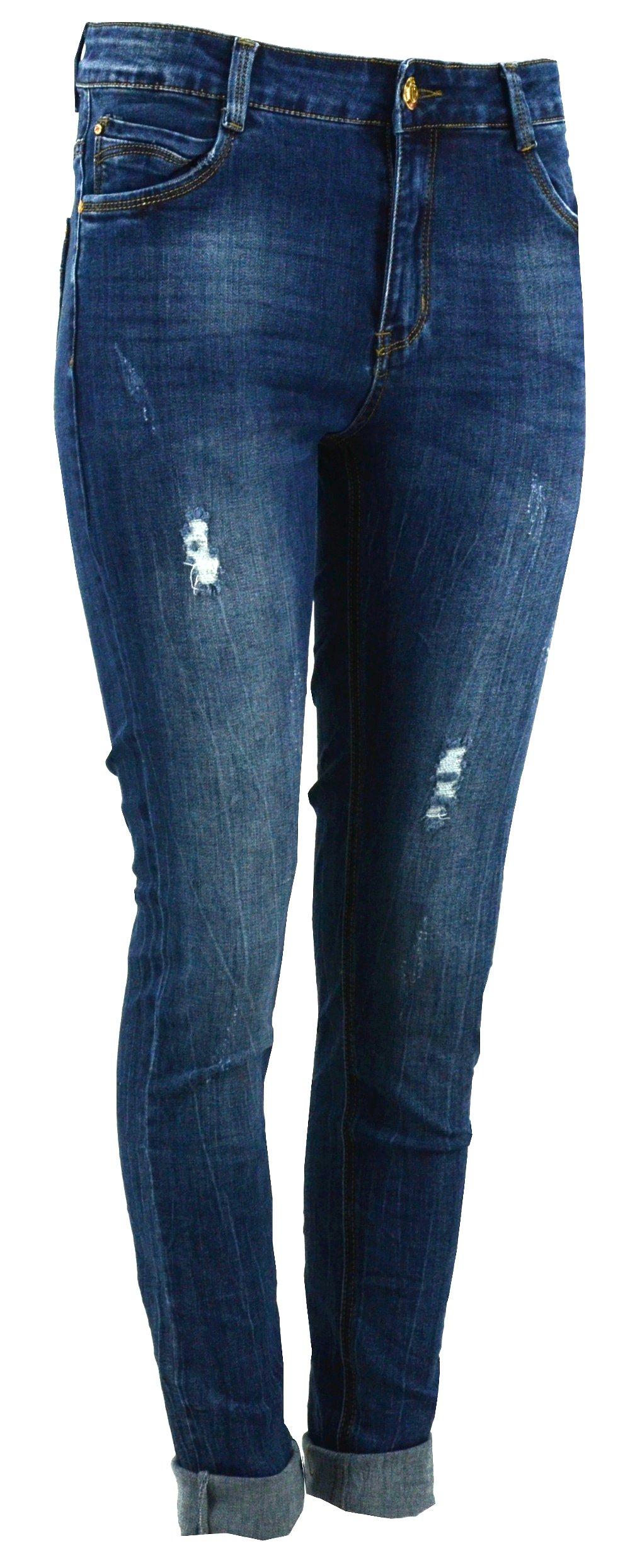 452274250 Spodnie JEANSOWE damskie RURKI przecierane - 28 - 6910153898 ...