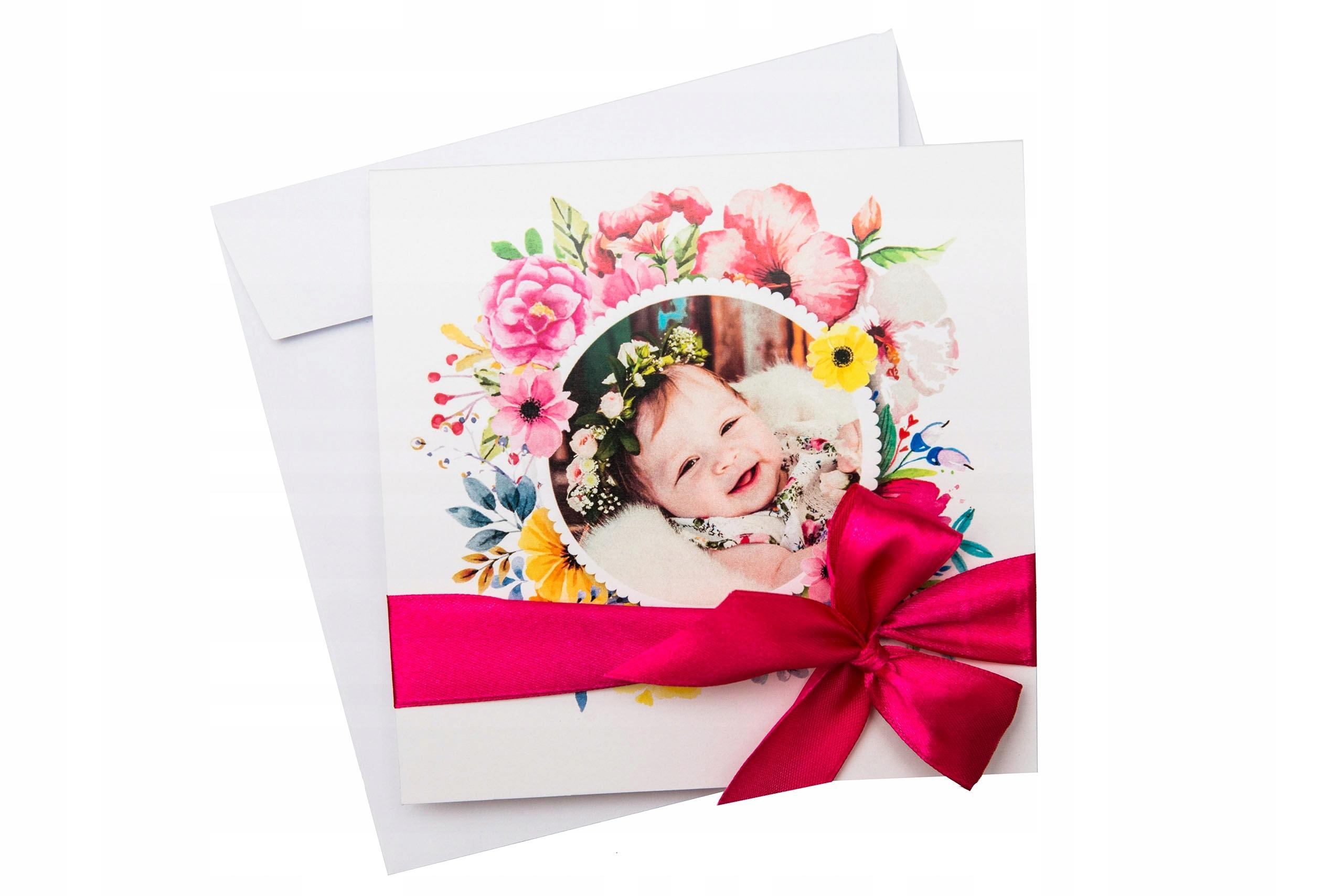 Zaproszenia Na Chrzest Roczek Urodzin Wiosenne 7498642910