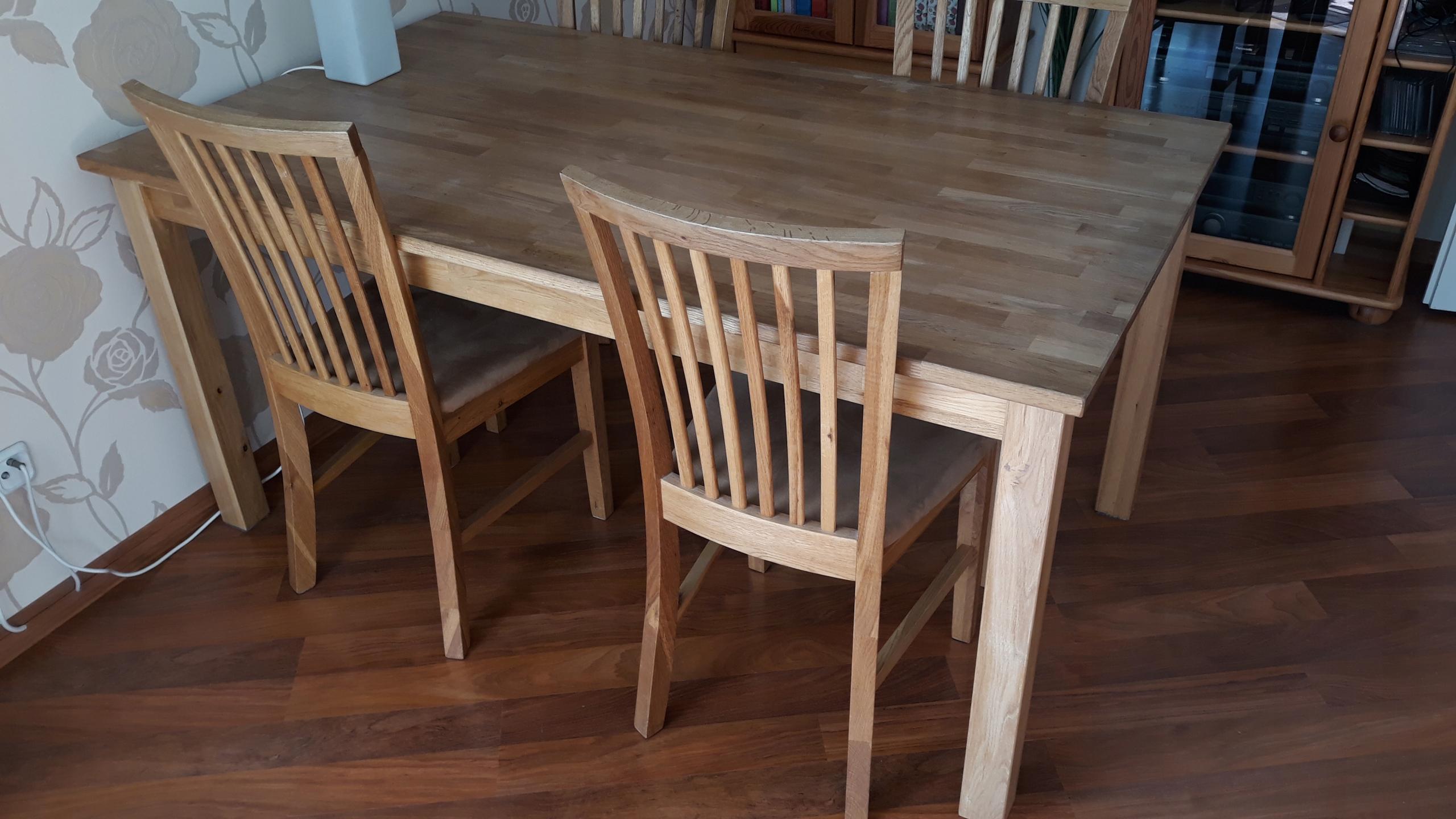 Stół 4 X Krzesła Jysk Komplet 160 X 90 Szczecin