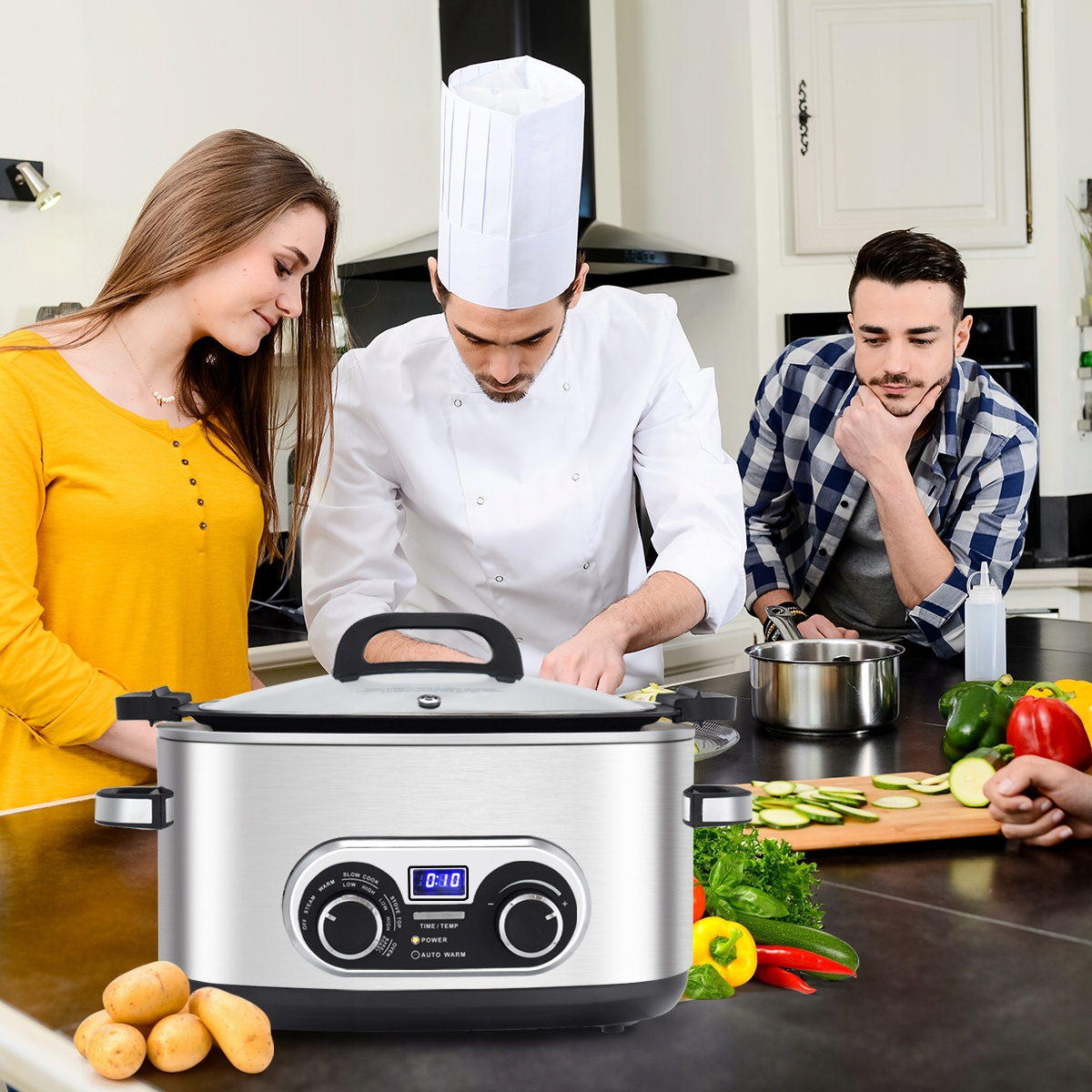 powolna kuchenka wielofunkcyjna, kuchenka cyfrowa