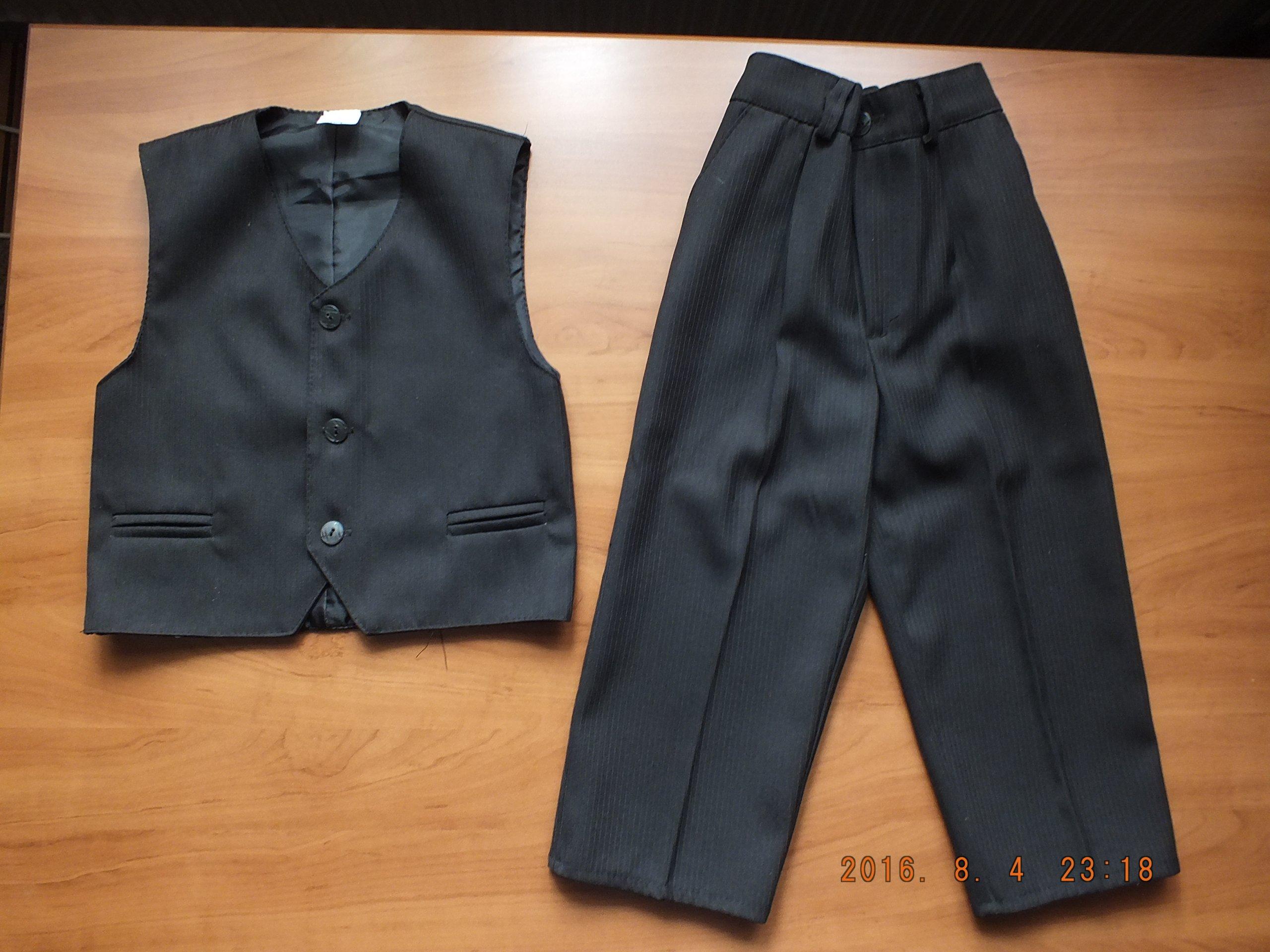 86f1a8fbabc8e Komplet wizytowy garnitur 122 spodnie + kamizelka - 7164757153 ...