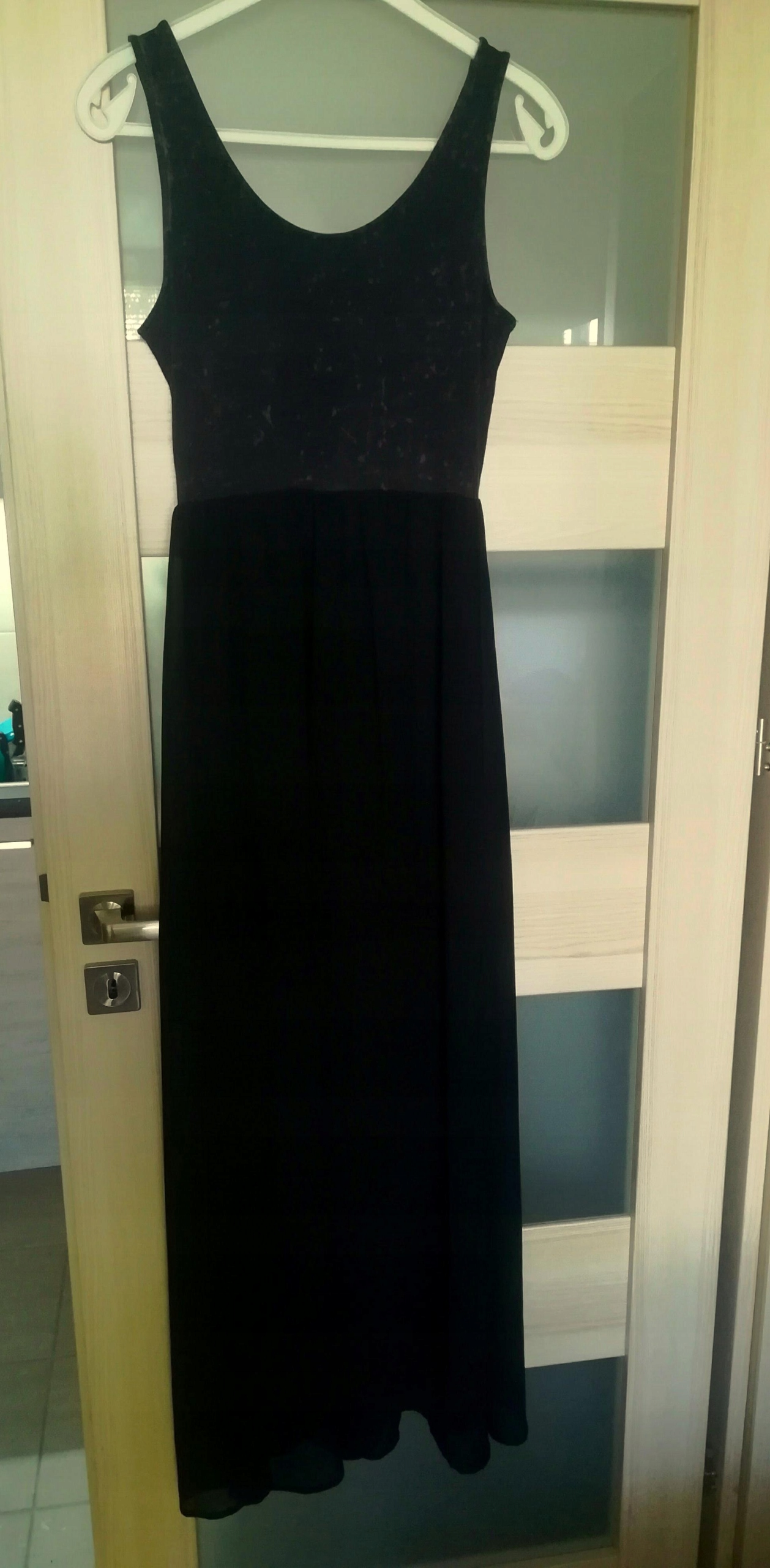 41d2f94c7d czarna sukienka długa maxi H M r.38 - 7496151661 - oficjalne ...