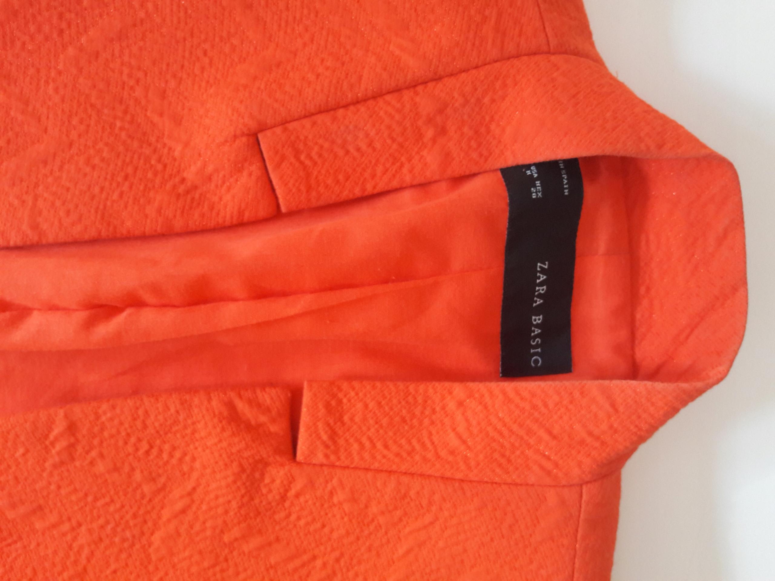 d3cc1db3629d1 Zara żakardowa pomarańczowa marynarka r. M - 7636074074 - oficjalne ...