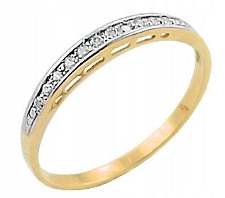 Złoty Zaręczynowy Pierścionek 333 R14 Grawer 7473394690