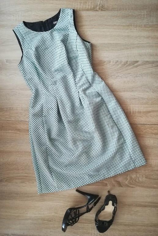 3d21425a55 ORSAY 40 L miętowa sukienka wesele j. nowa - 7444239607 - oficjalne ...