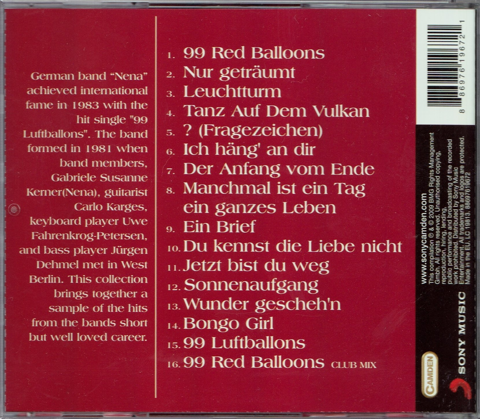 CD- NENA- THE COLLECTION: THE BEST (NOWA) - 6957678998
