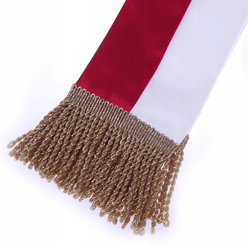 Nowość Szarfa biało-czerwona dla pocztu sztandarowego - 7468636289 QK77