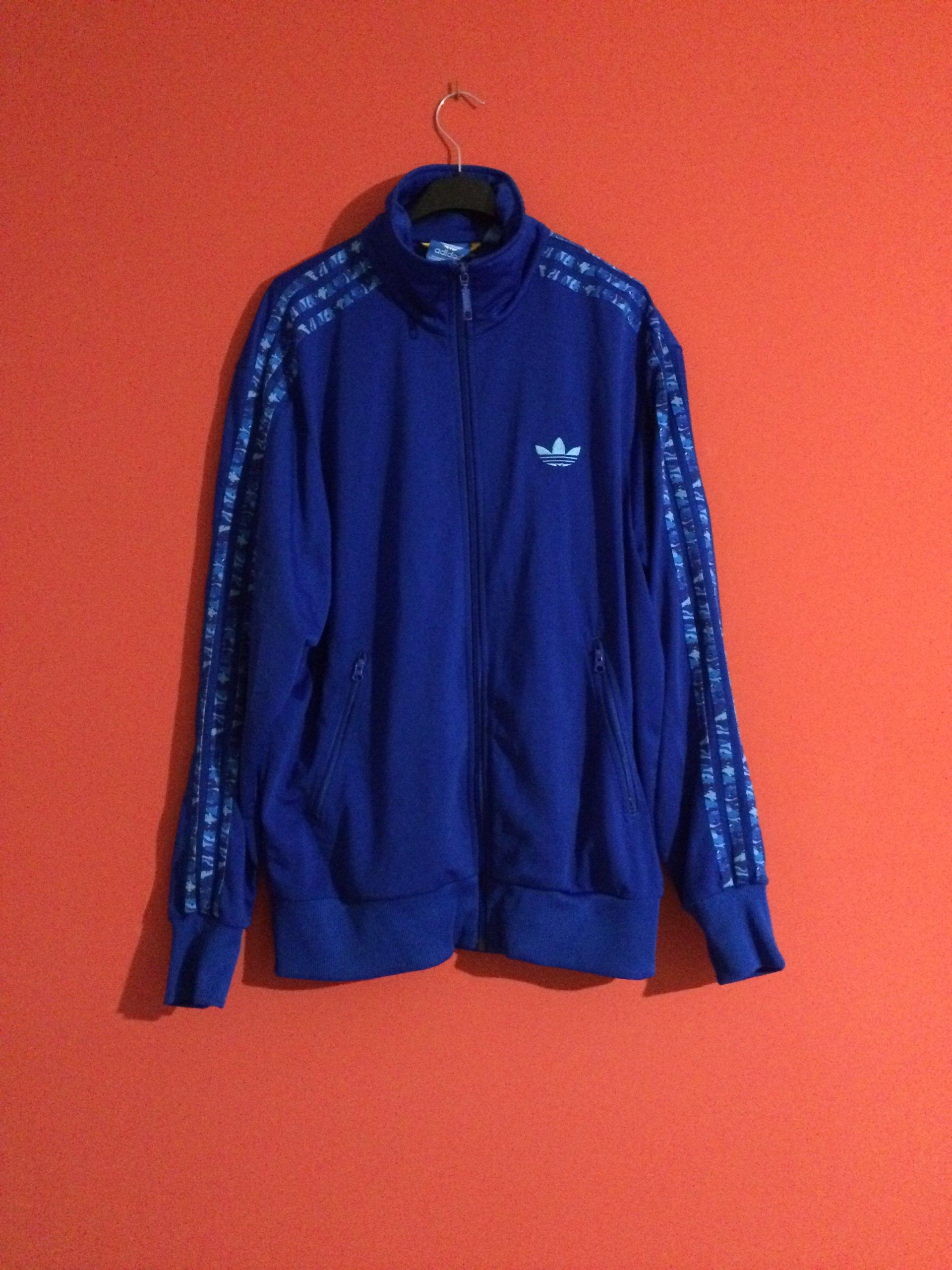 bluza czerwona moro niebieska adidas