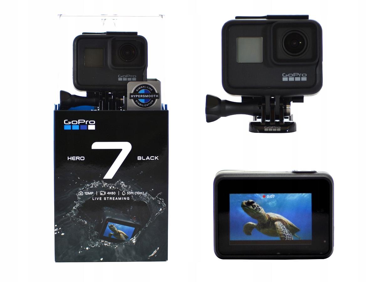 GOPRO HERO 7 BLACK KAMERKA SPORTOWA 4K GPS
