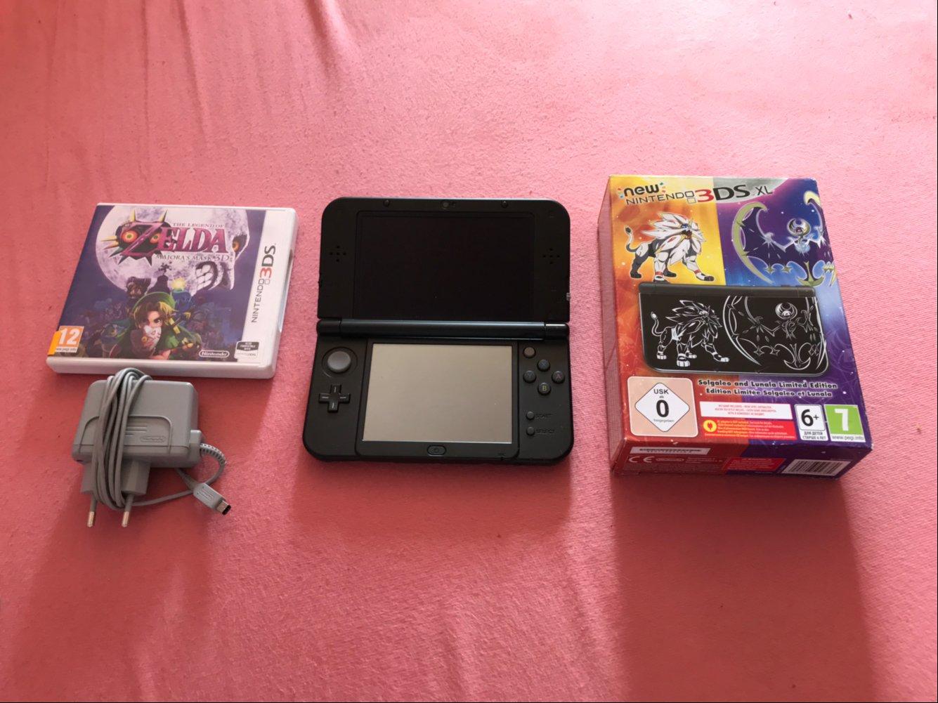 New Nintendo 3ds Xl Zelda Majoras Mask 7395157985 Oficjalne Ll Pink White Cfw Luma 16gb
