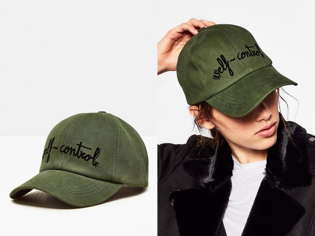 49c62ea2d Zielona khaki czapka z daszkiem napis S-M - 7149056628 - oficjalne ...