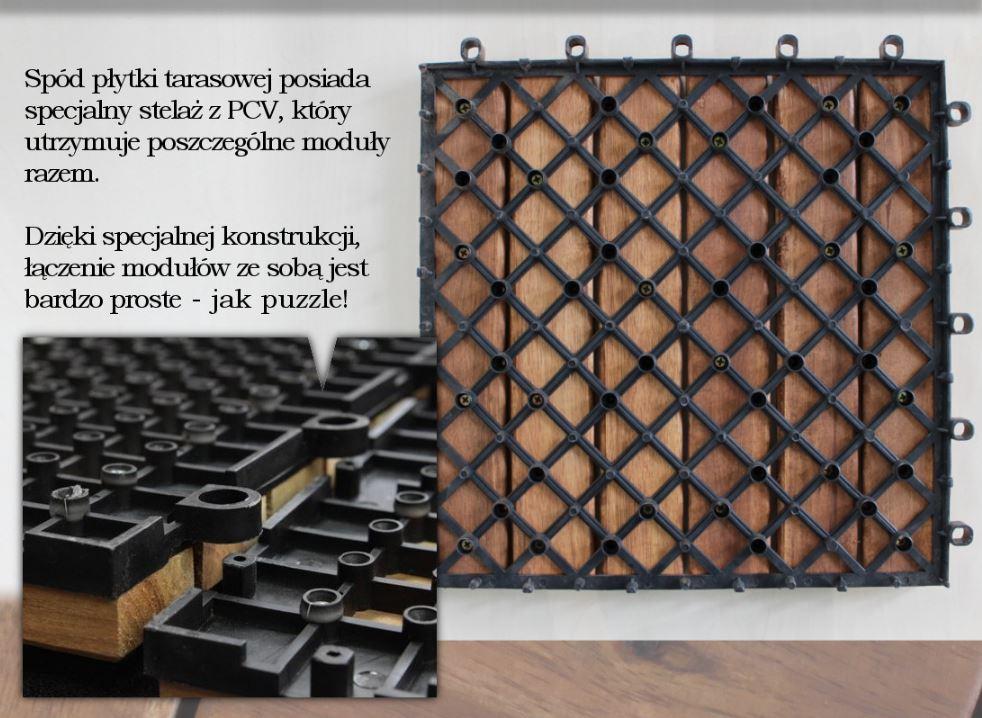 Deski Tarasowe Płytki Na Taras 30x30cm Akacja 6k