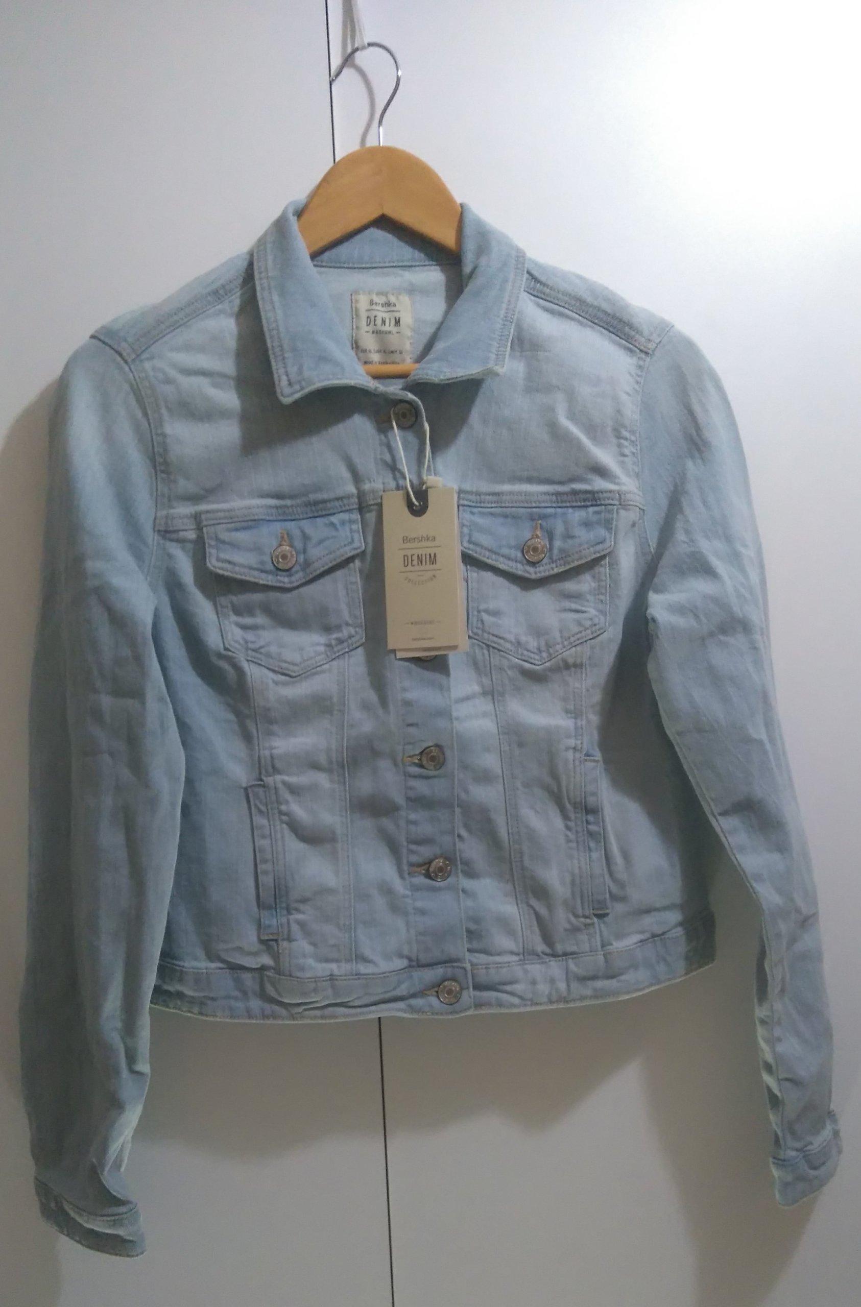 9695d8f889 BERSHKA kurtka jeansowa damska rozmiar XS - 7307056622 - oficjalne ...