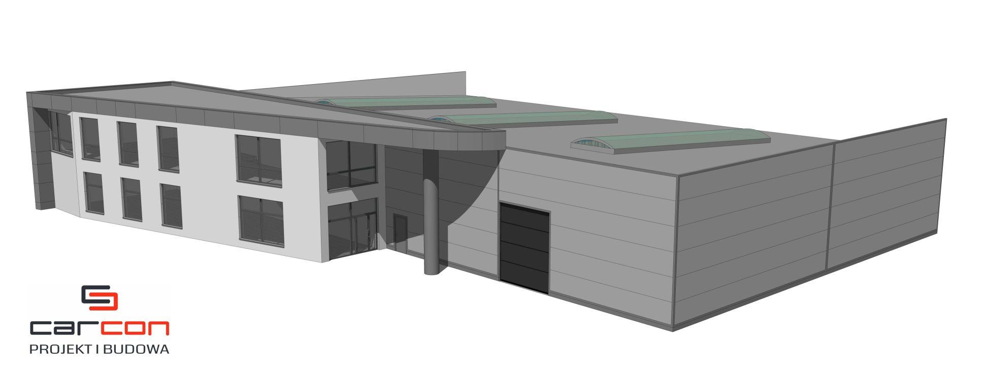 Projekt i budowa hala stalowa z biurowcem