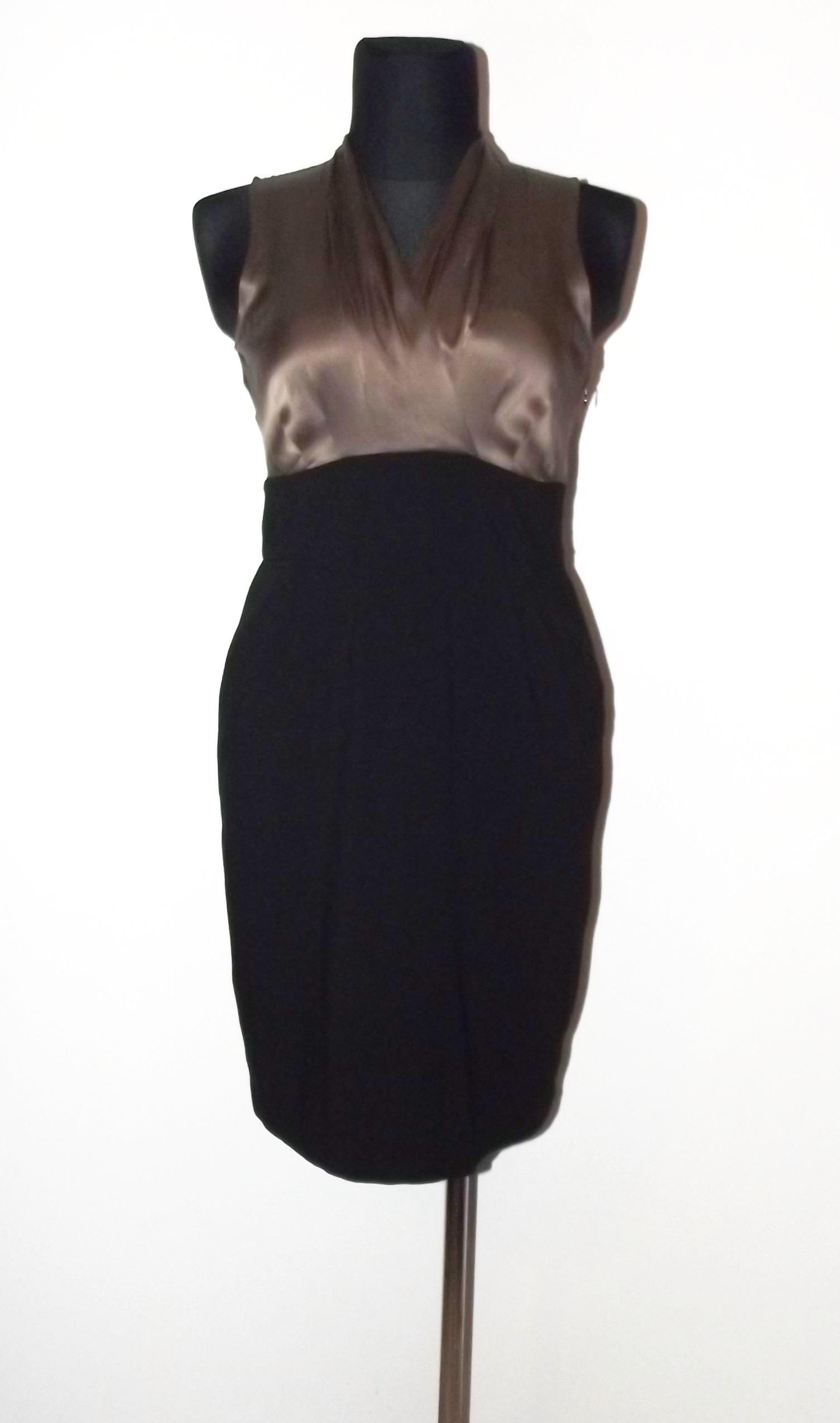 3c50659085 SIMPLE klasyczna sukienka z jedwabiem 40 42 - 7217349118 - oficjalne ...
