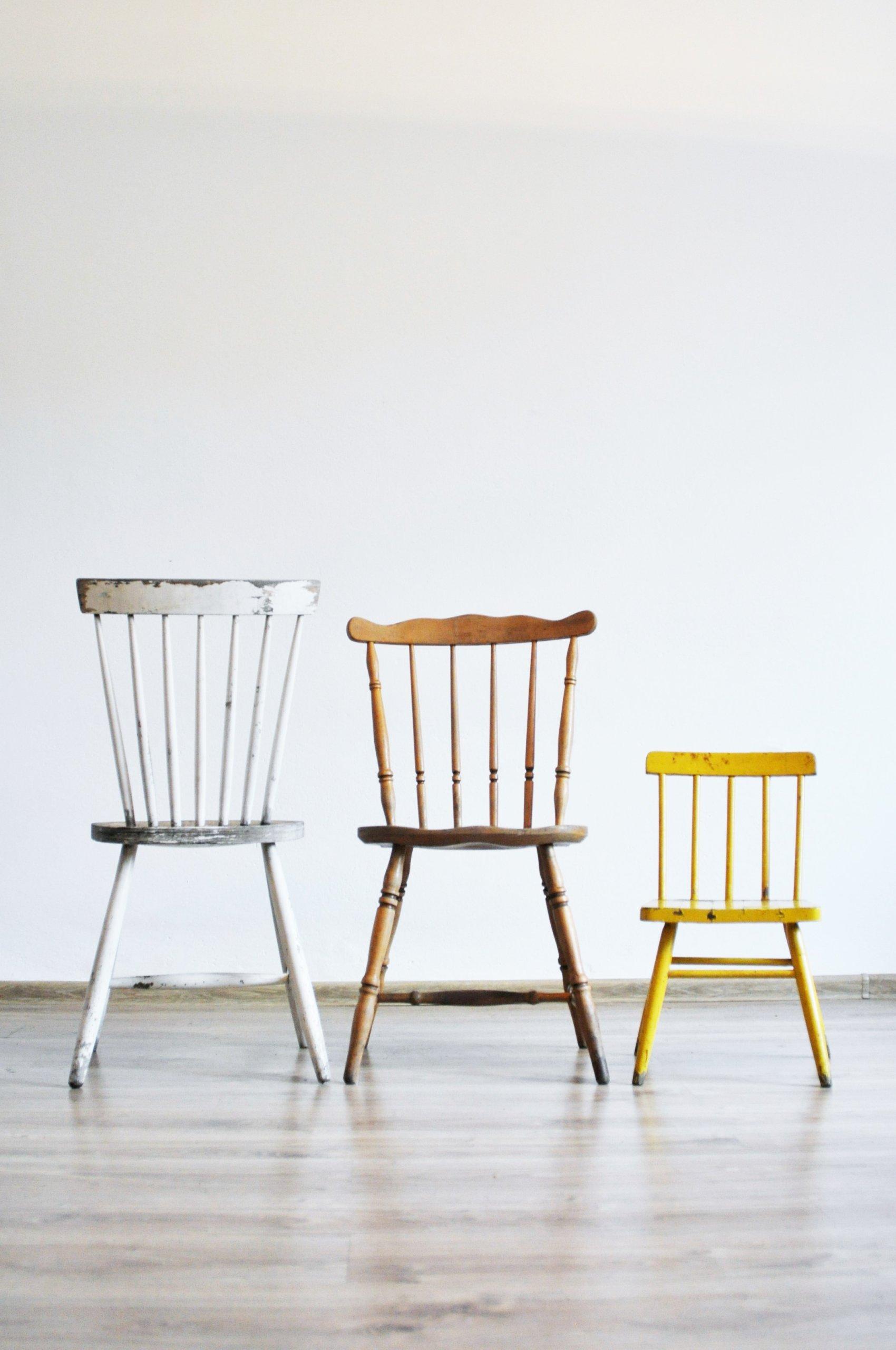 Niewiarygodnie Retro Vintage krzesło w stylu King Edward, lata 60 - 7315336720 EY34