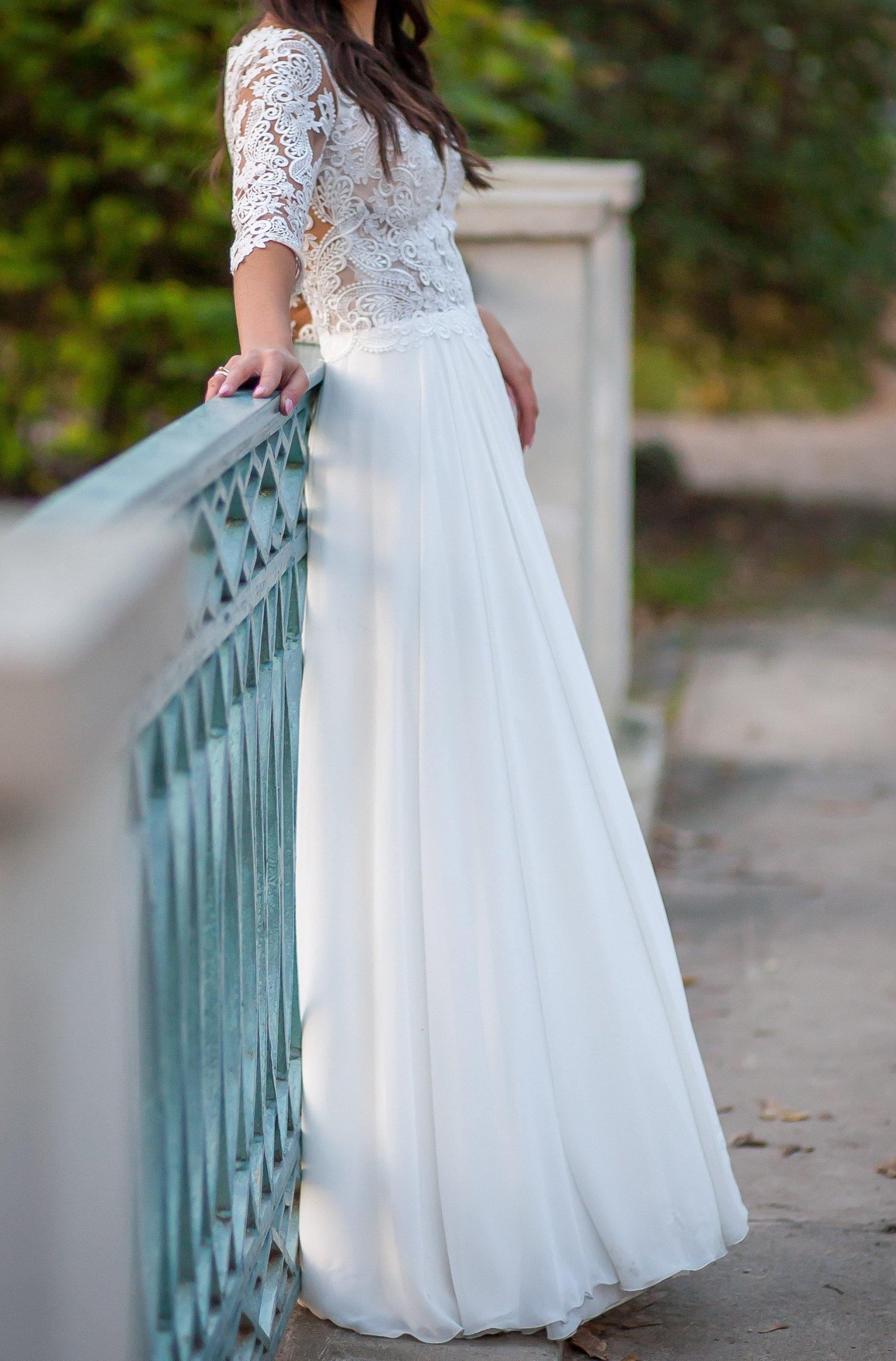 Suknia ślubna Z Rękawem 34 Rozmiar 34 Larisa 7412023192