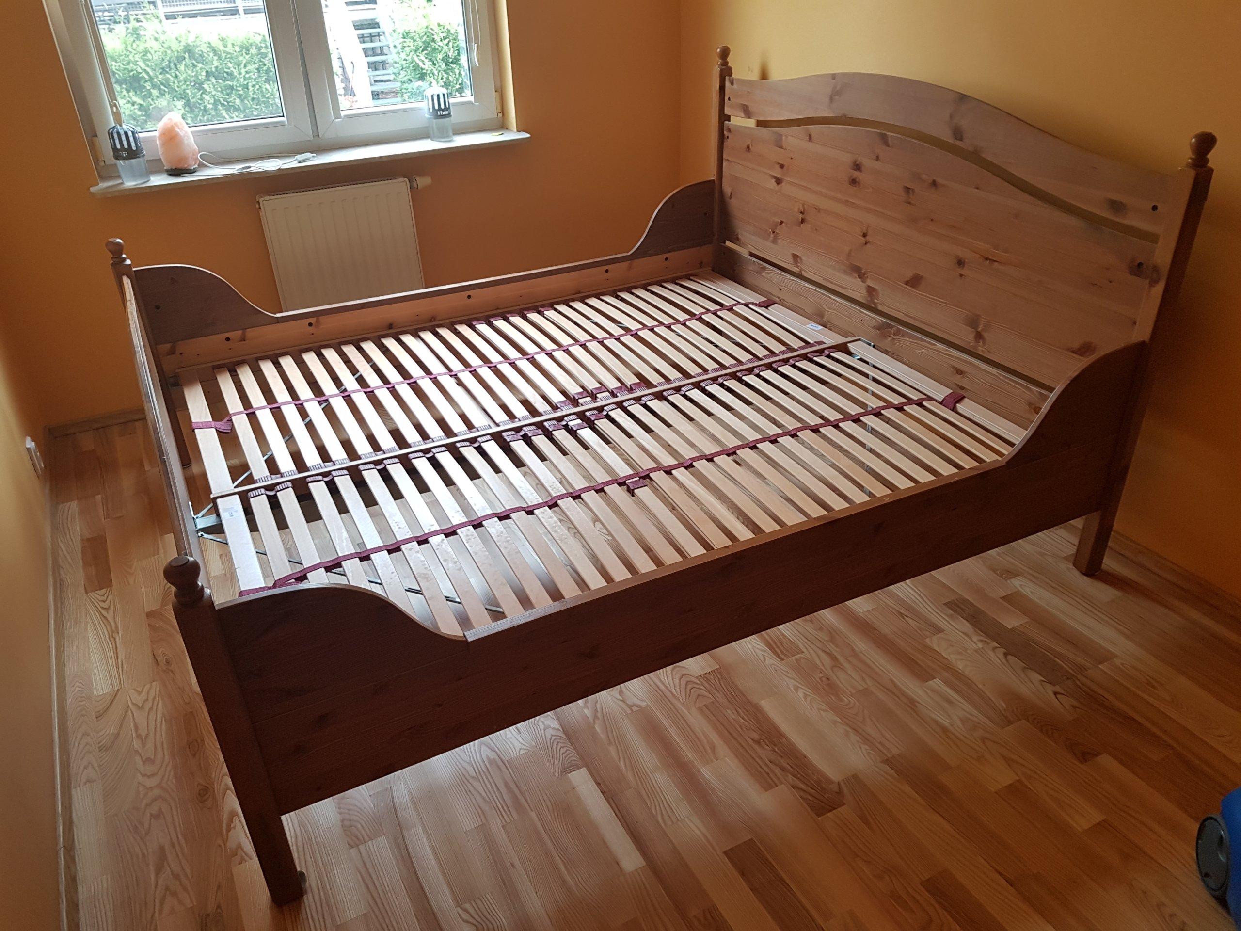 Zupełnie nowe Sypialnia łóżko drewniane porządne 212x185cm Ikea - 7340302208 NL82