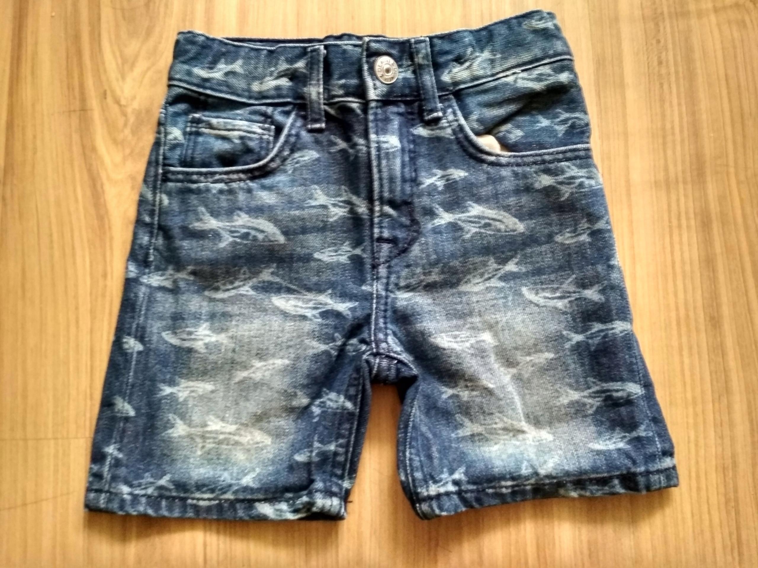 Genialne Spodenki jeansowe H&M rozmiar 98