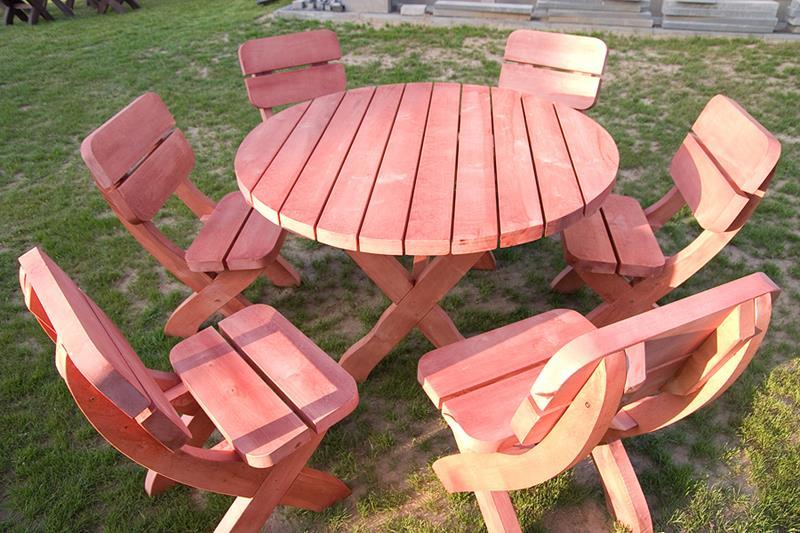 Meble Ogrodowe Drewniane Hortensja Stol 6 Foteli 6828457366