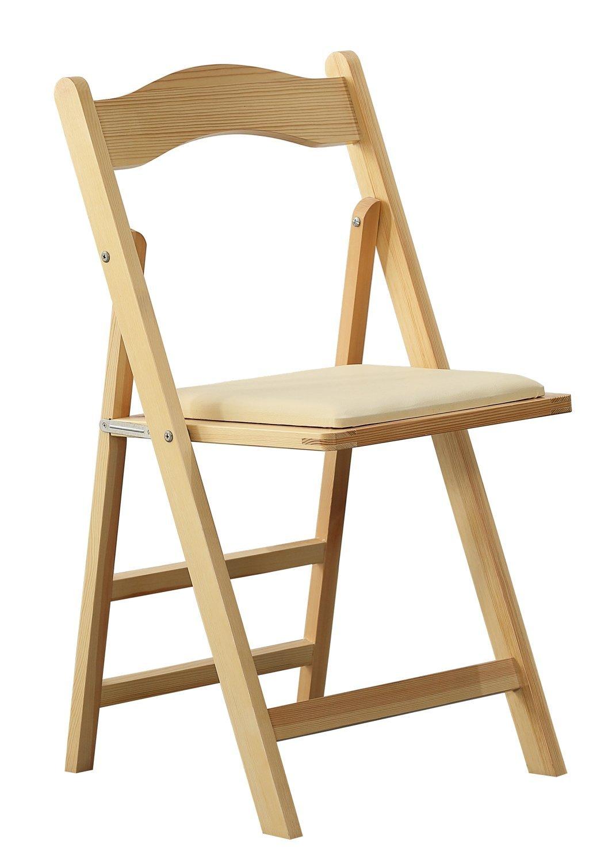 Ogromny Krzesło składane drewniane ecru Orolay D8A473 - 7324988078 RZ59