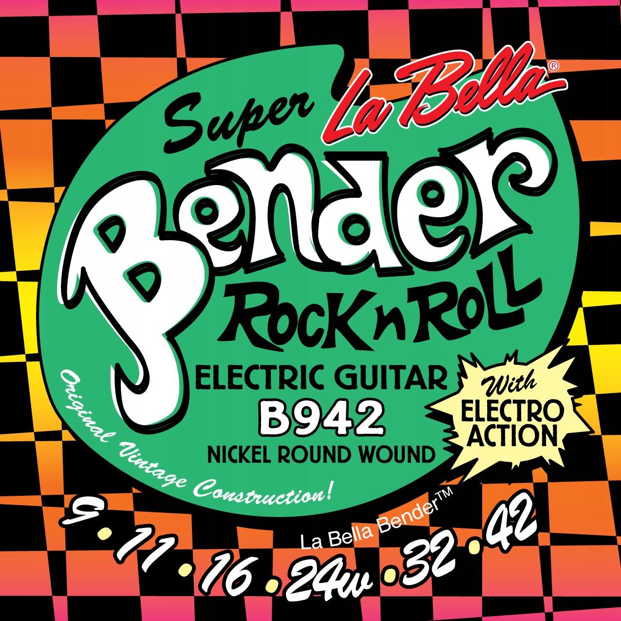 Struny do gitary elektrycznej LA Bella Bender 9-42