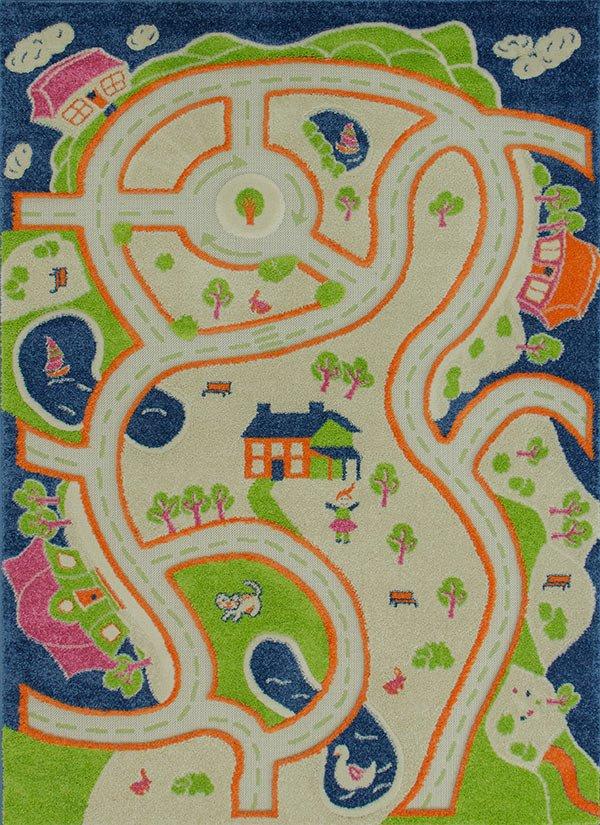 Dywan Dla Dzieci Sonic 133x190 Kolorowe Uliczki 3d 6571077427