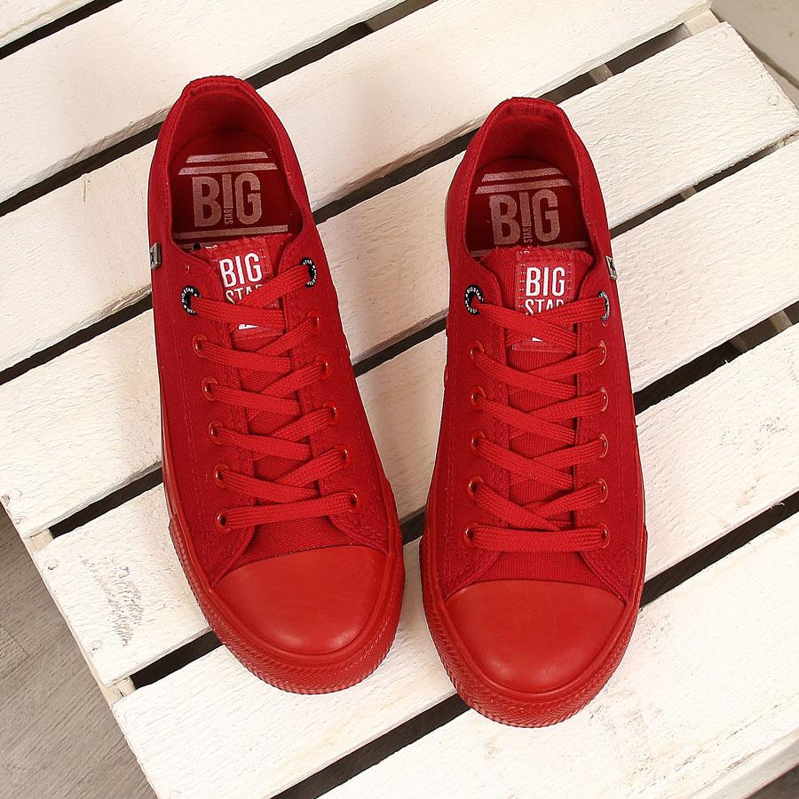 bbce2281c6099 męskie TRAMPKI całe czerwone BIG STAR AA174007 42 - 7126583519 ...