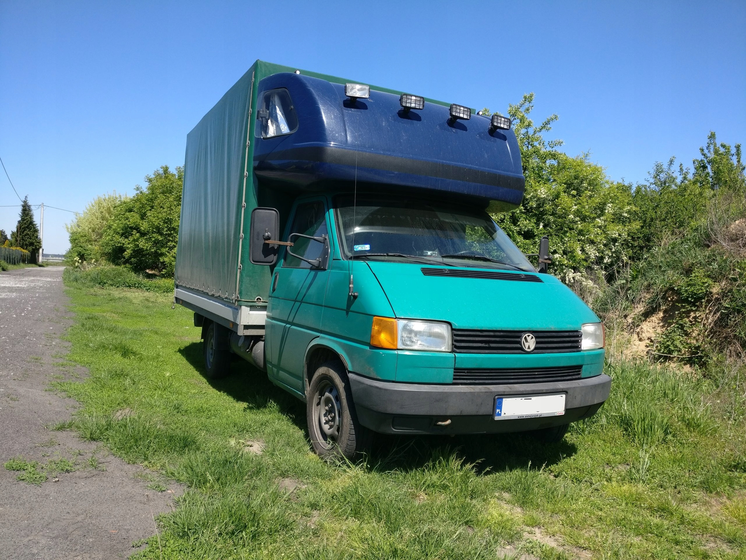 VW T4 - plandeka - benzyna + LPG, kabina wejkama!