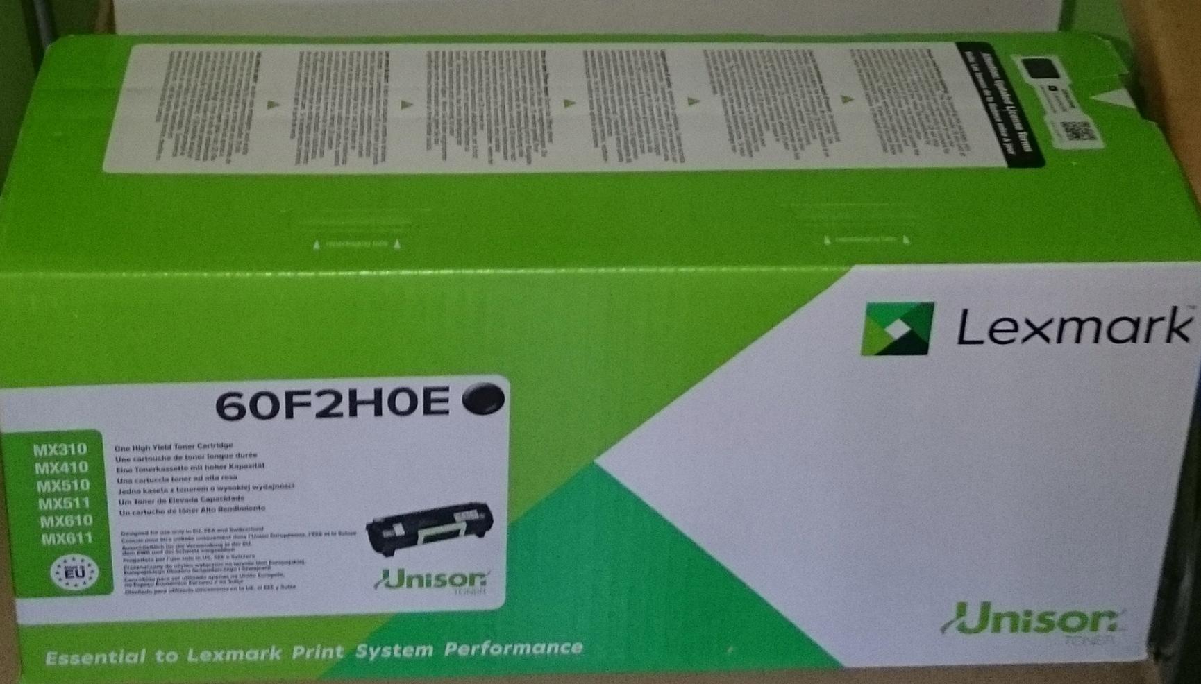 Toner Lexmark MX 410/ MX610 ( 60F2HOE ) oryginalny