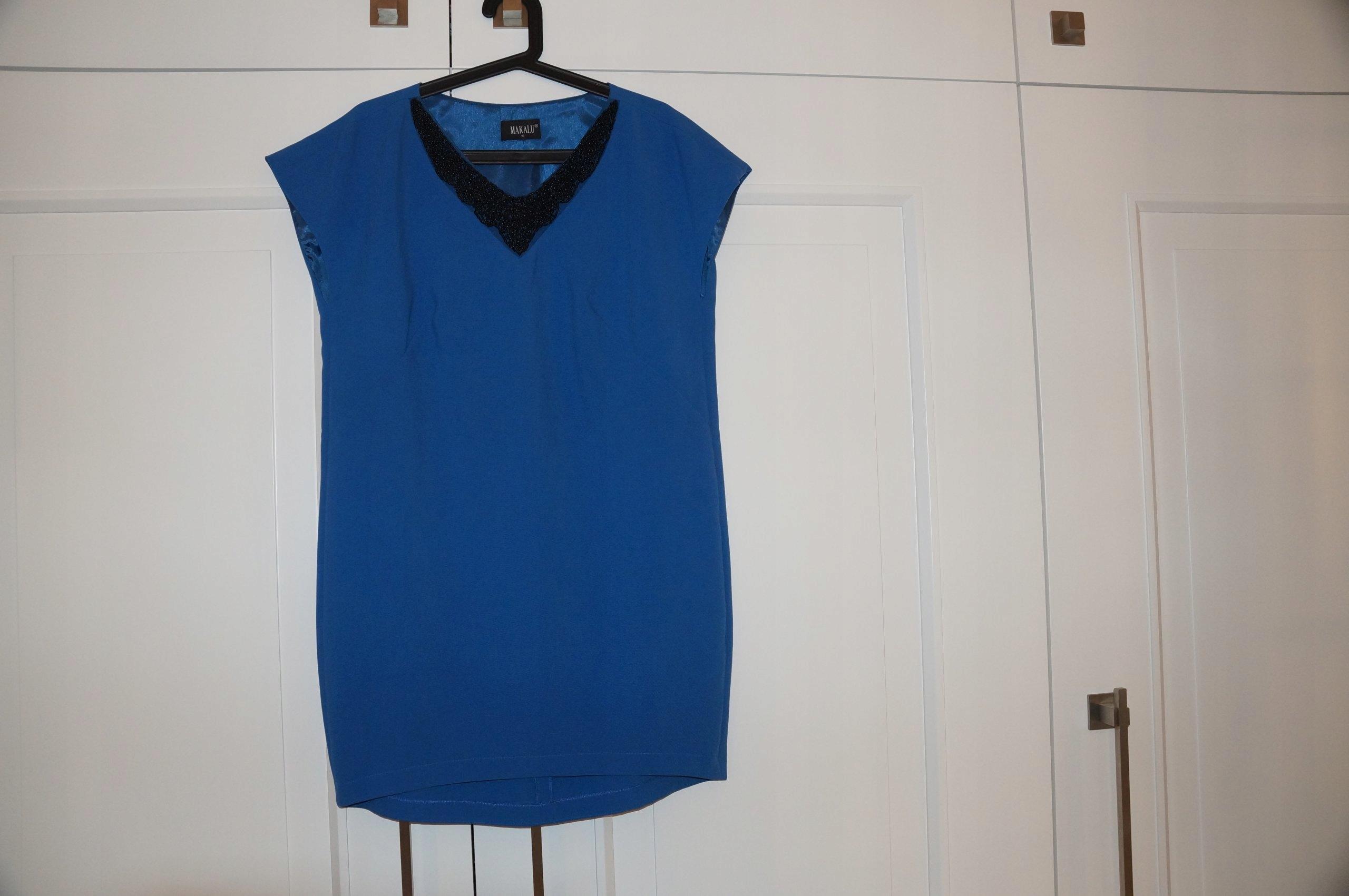 039a299841 MAKALU sukienka niebieska z kamieniami r.42 - 7536460983 - oficjalne ...