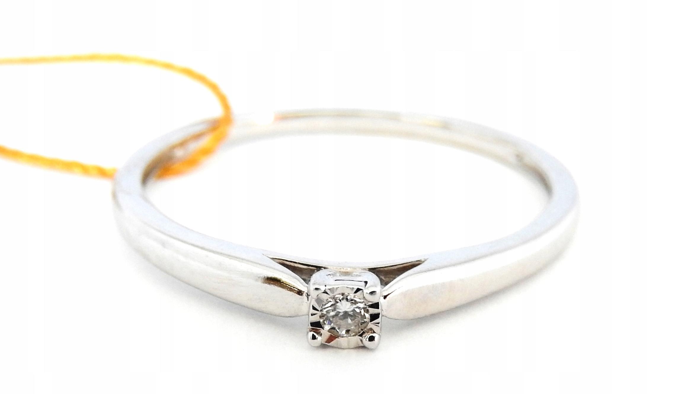 Pierścionek Brylant Białe Złoto 585 Verona R 13 6968889931
