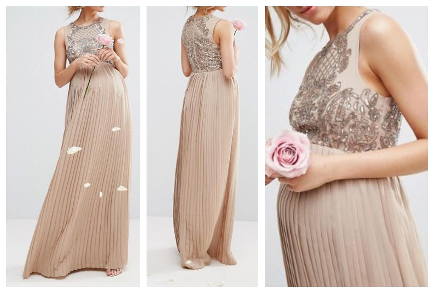 1fe66aea0bbd7f ex44 sukienka ciążowa maternity długa wesele 38 M - 7332824567 ...