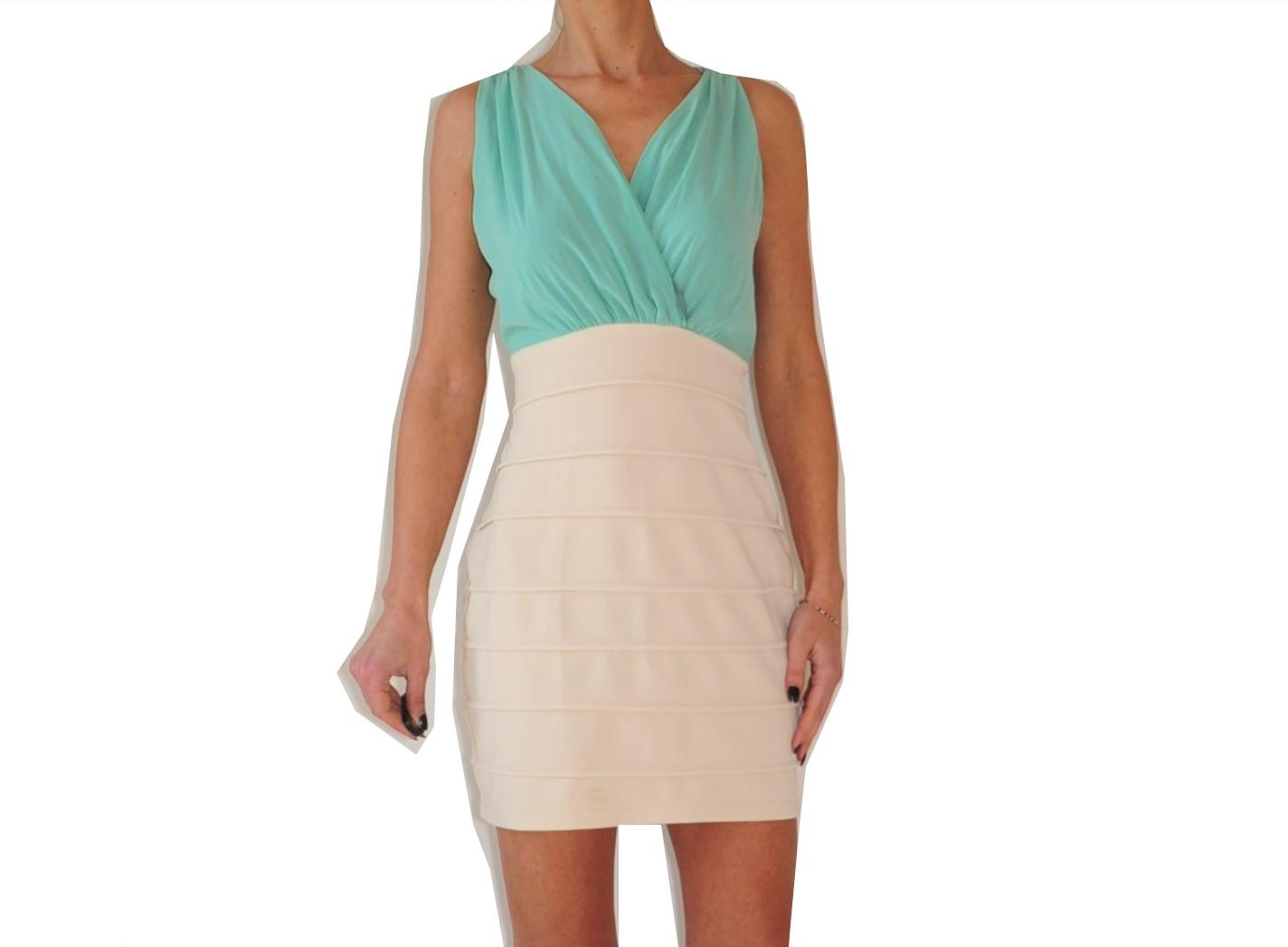 259485f9f1 Rare London miętowo beżowa sukienka r. 42 METKA - 7137250568 ...