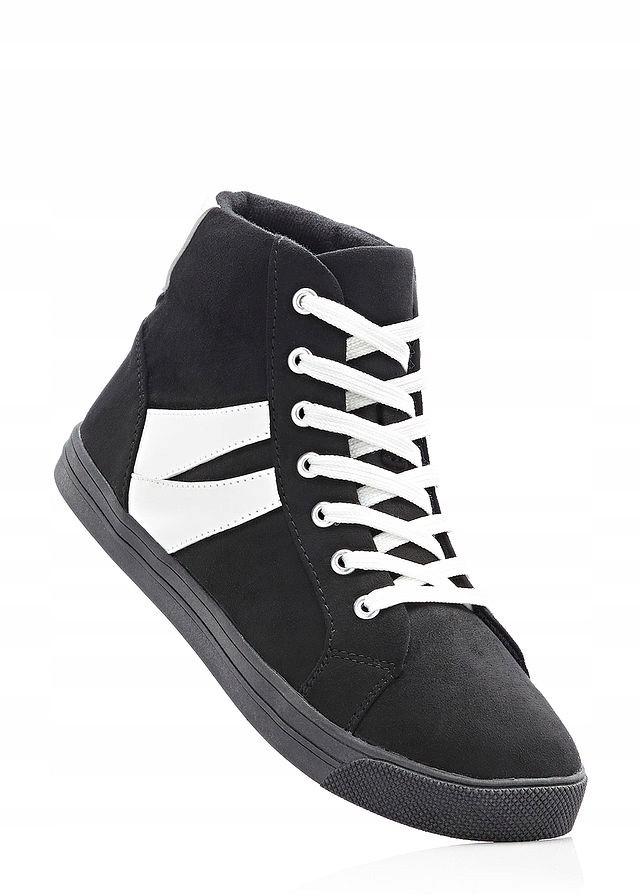 Wysokie Sneakersy B3701 Czarny czarne | Tenisówki, Sneakers