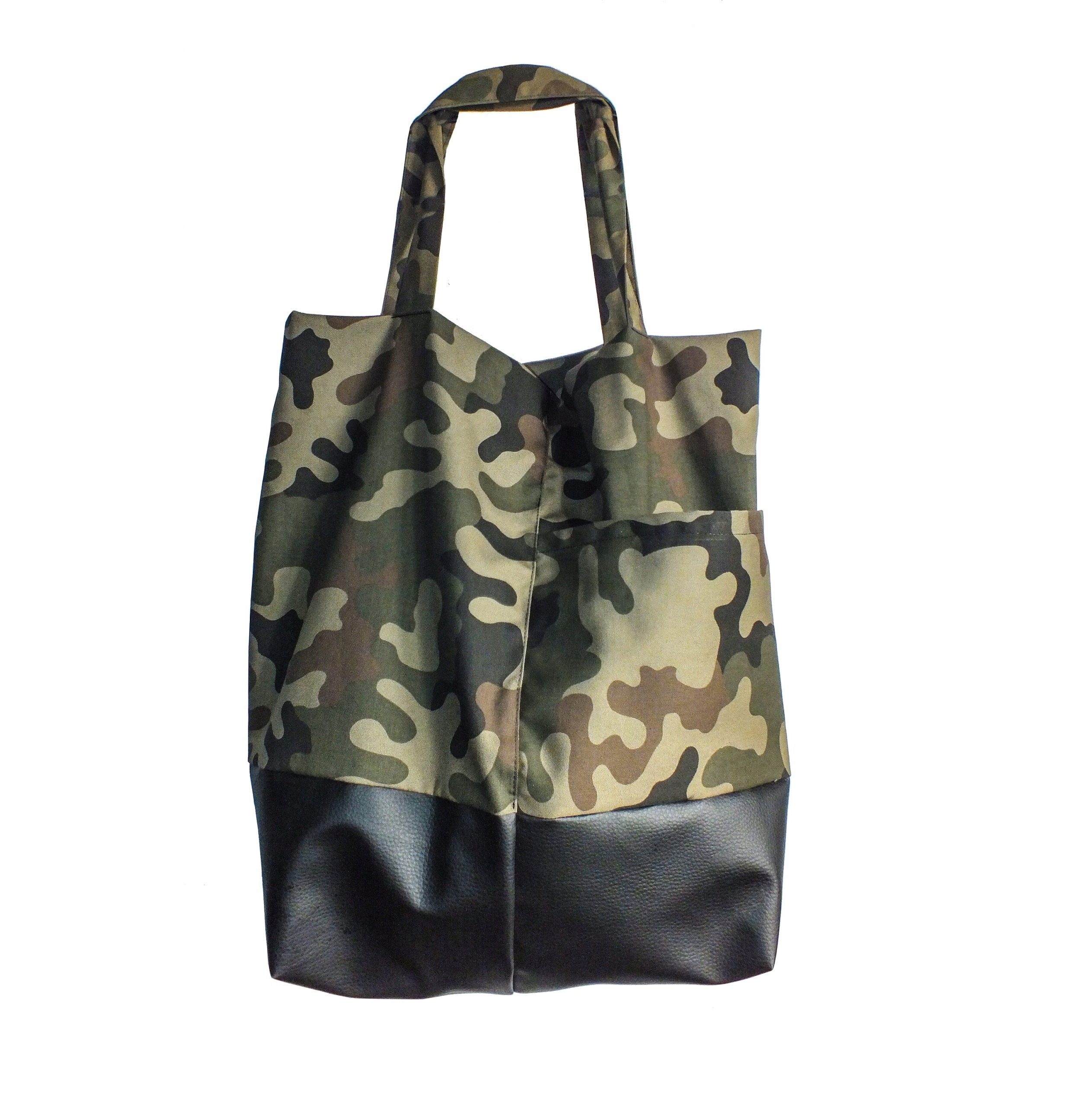 bff2f8cff2aae torba torebka shopper moro khaki militarny pojemna - 7712064409 ...
